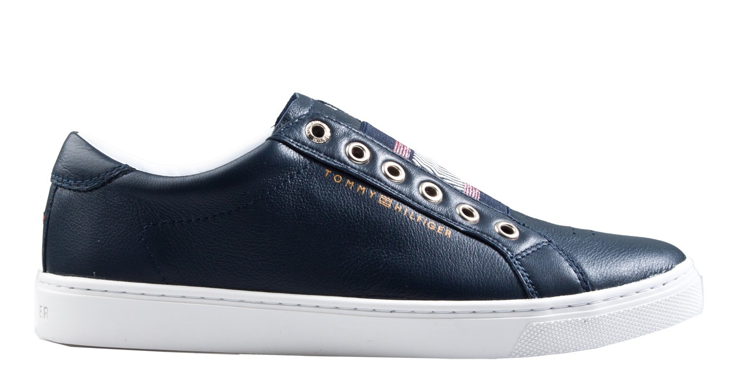 separation shoes e426b e5097 Tommy Hilfiger iconic metallic elastic Sneaker blau