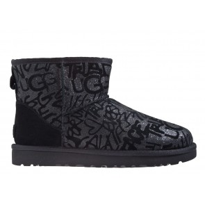 UGG Classic Mini Sparkle Graffiti
