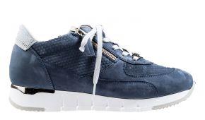 DL-Sport 5029 licht blau Veloursleder Sneaker.