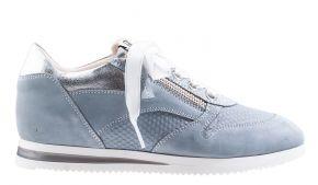 DL-Sport 5068 lichtblauVeloursleder Sneaker.