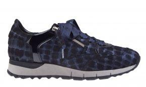 DL-Sport 4856H blau Kroko Veloursleder Sneaker
