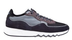 Floris van Bommel 16093/23 G1/2 black suède combi Sneaker.