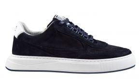 Floris van Bommel 16323/00 G1/2 blau Veloursleder Sneaker
