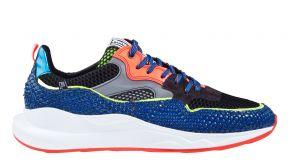 Floris van Bommel 16369/01 G1/2 blue patent multicolor Sneaker