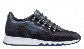 Floris van Bommel 16393/20 blue Veloursleder Sneaker