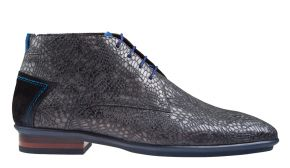 Floris van Bommel 20440/34 H grey print metal veterboot.