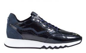 Floris van Bommel 85287/06 blau Lackleder Sneaker.