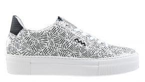 Floris van Bommel 85333/01 schwarz/weiß Print Sneaker