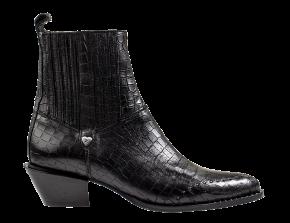 Floris van Bommel 85699/00 black croco Chelsea Boot.