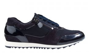 Hassia 30-1914 H blau Lack combi Sneaker.
