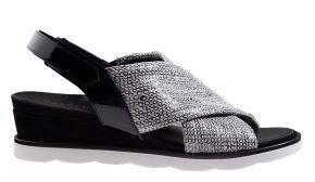 Hassia 1-30-3033 H offwhite schwarz Sandale