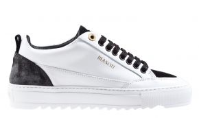 Mason Garments Tia 23B Leather/Suede/Reflective White/Black Sneaker