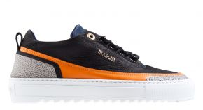 Mason Garments Firenze 17A Nubuck/Leather Black/Orange Sneaker