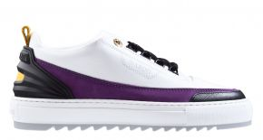 Mason Garments Firenze 18A Nubuck/Leather White/Purple Sneaker.