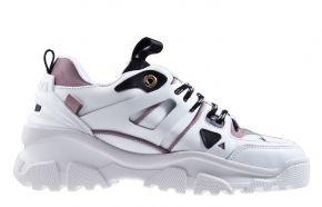 Mason Garments Genova ll 3B white/pink/grey Sneaker.