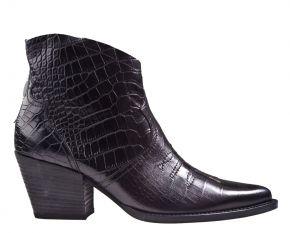 Paul Green 9666-037 croco schwarz Stiefelette