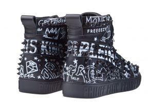 Philipp Plein MSC2606 schwarz Hi-Top Graffiti Sneaker