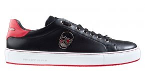 Philipp Plein MSC2816 schwarz rot Lo-Top Sneaker