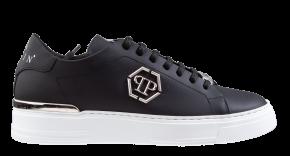 Philipp Plein MSC 3157 zwart Lo-Top Sneaker Hexagon