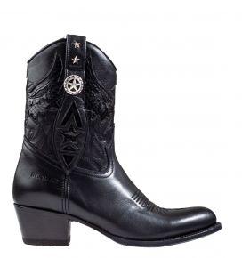 Sendra 14298 schwarz Leder Westerstiefel