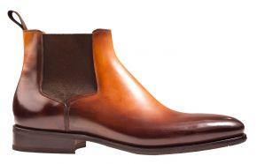 Santoni 17027 cognac Leder Stiefel