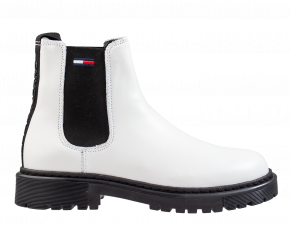 Tommy Hilfiger Branded Tape weiß Chelseaboot