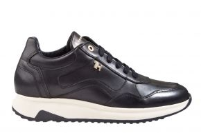 Tommy Hilfiger elevated leather runner schwarz Sneaker