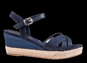 Tommy Hilfiger Gradient Mid Wedge Sandal blau Sandale