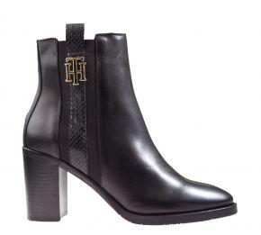 Tommy Hilfiger Interlock High Heel Boot schwarz Stiefelette