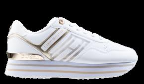 Tommy Hilfiger Knitted Flatform weiß Sneaker