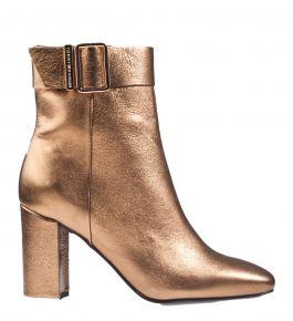 Tommy Hilfiger Metallic Square Toe Boot bronzen Stiefelette