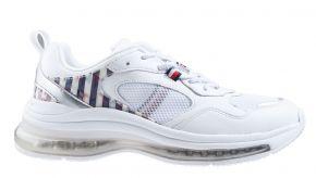 Tommy Hilfiger Monogram Air Runner Mix weiß Sneaker