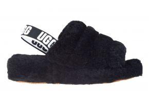 UGG Fluff Yeah slide schwarz Pantolette