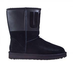 UGG classic short UGG rubber zwart