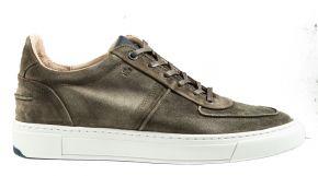 Van Bommel 16422/04G1/2Green VelourslederSneaker.